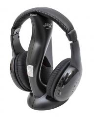 Tech-com SSD-HP-221 Wireless Headphones with FM Radio Black