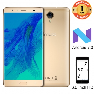 INNJOO Max 4 Pro, 6 inch HD, Android 7.0 4GB+64GB, 8MP+16MP Camera, 4400mAh, Fingerprint SmartPhone gold