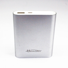 Useek Only 10400mAh Power Bank Power Mate Mobile Power Portable Charger Battery Silver 10400mAh
