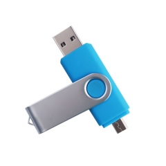 1PCS 16GB OTG USB Flash Drive U Disk Stick For Mac Computers Mobile Device Smart Phone Tablet PC blue one size 16g