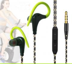 Sports Clip Headphones Sweat Proof Sports Earphones In-Ear Hook Style HiFi Headphones with Mic green
