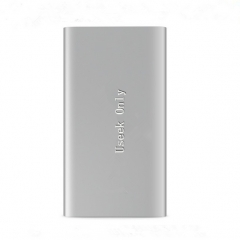 Ultra-thin Power Bank 5000mah Metal Case  Li Polymer External Battery Portable Charger Power Bank silver 5000mh