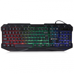 K10 Professional USB Wired Colorful Backlight Gaming Water Resistant Keyboard colorful one size
