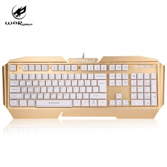 K5 USB Wired Mechanical Gaming Keyboard with Backlight For Laptop gold and white one size