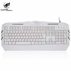 K3 Professional White Axis USB Wired Gaming Keyboard with Backlight for Computer PC Laptop white one size