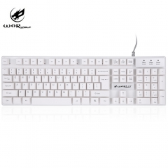 K1 USB Wired Optical Keyboard with Backlight for Computer PC Laptop white one size
