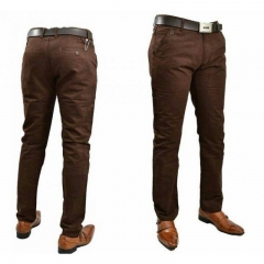 Mens Official Fitting Khaki Pants BROWN 30