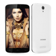 DOOGEE X6, 5.5'', Android 5.1, Quad Core, 1GB RAM + 8GB ROM, 8.0MP Camera Smartphone White