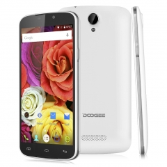 DOOGEE X6 Pro, 5.5 '', Android 5.1, Quad Core, 2GB RAM + 16GB ROM, 8.0MP Camera Smartphone White
