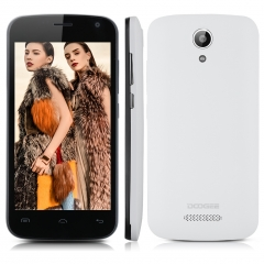 DOOGEE X3, 4.5'', Android 5.1, Quad Core, 1GB RAM, 8GB ROM, 5.0MP Camera Smartphone White
