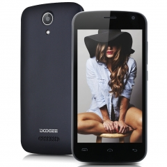 DOOGEE X3, 4.5 '', Android 5.1, Quad Core, 1GB RAM, 8GB ROM, 5.0MP Camera Smartphone Black