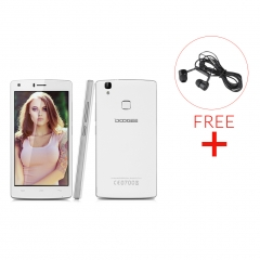 DOOGEE X5 MAX, 5.0'', 1GB RAM + 8GB ROM, Android 6.0, 8.0MP Camera, Dual SIM Smartphone White
