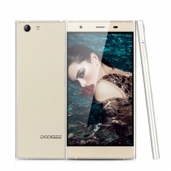 DOOGEE Y300, 5.0'', Android 6.0, Quad Core, 2GB RAM + 64GB ROM, Dual SIM Smartphone Gold