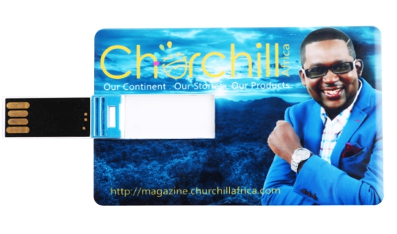 Churchill Branded USB Flash Disk 8GB Blue Unique Card Flash Drive