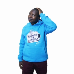 Churchill Clad Unisex Fashion Hoodie-Prof. Hamo blue, large