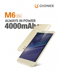 "Gionee M6 Lite : 5.0"", 5MP/ 13 MP, 3 GB RAM/ 32 GB ROM golden"