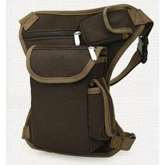 MeCooler Fanny Pack Vintage Waist Bag Leg Men Bum Bag for Outdoor Travel Sports Bike Running Brown Small