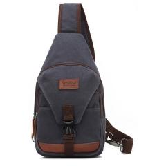 MeCooler Men Shoulder Bag Sports Chest Bag Outdoor Messenger Cross Body Bag for Travel Pack Canvas blue medium