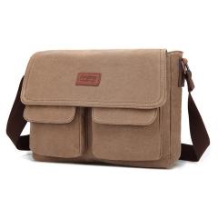 MeCooler Men Shoulder Bag Work Big Briefcase Sport Messenger Bag for Travel Side Bag Cross Body Pack brown large
