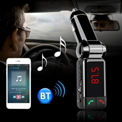 Bluetooth V2.0 Car Kit MP3 Player FM Transmitter Handsfree with Double USB Charging Port