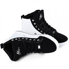 Fashion Men Casual Sport Athletic Running Sneakers High Top Shoe White with Black 42