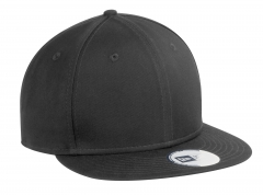 black-snapback hat