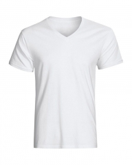 Generic V Neck Plain White T-Shirt white m