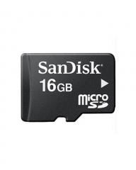 Sandisk Memory Card - Micro SD - 16GB - Black great