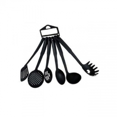 Generic Non-Stick Cooking Spoons - 6 Pieces - - Black great