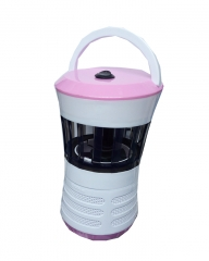 Electronic Anti-mosquito LED Lamp - Black And White pink small medium