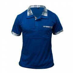 Blue White Polo Shirt blue m