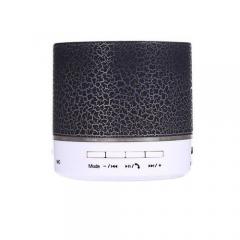 A9 Mini Wireless Bluetooth Round Speaker - Black BLACK small