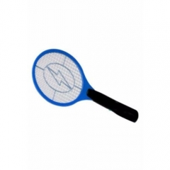 Rechargeable Electronic Mosquito Racket - Blue & Black blue and black small
