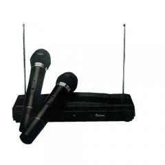 2 Channel Wireless Microphone System - Black black