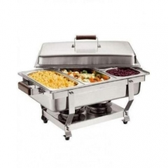 Chafing Dish Stainless Steel 3Tray Buffet Catering - Silver silver big