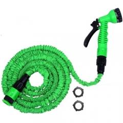 Expandable Garden Magic Hose Water Pipe With 8 Modes Spray Gun - Green green medium