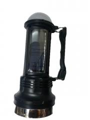 LED Rechargeable Solar Lantern & Torch - Black