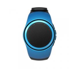 Bluetooth Sports Music Watch Portable Mini Watch Bluetooth Sport Speaker FM Audio Radio Speakers Blue One size