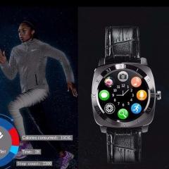 Smartwatch X3 Smart Watch Bluetooth Camera SIM Watch Phone Pedometer Clock Wristwatch black leather