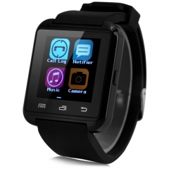 Bluetooth Touch Screen Smart Watch with Passometer & Calls Making Function Black One Size