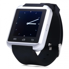 U8S Outdoor Sports Bluetooth 3.0 Smart Watch with Remote Camera Silver One Size
