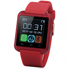 U8 Smartwatch Bluetooth Watch Passometer Touch Screen Answer and Dial the Phone Red One Size