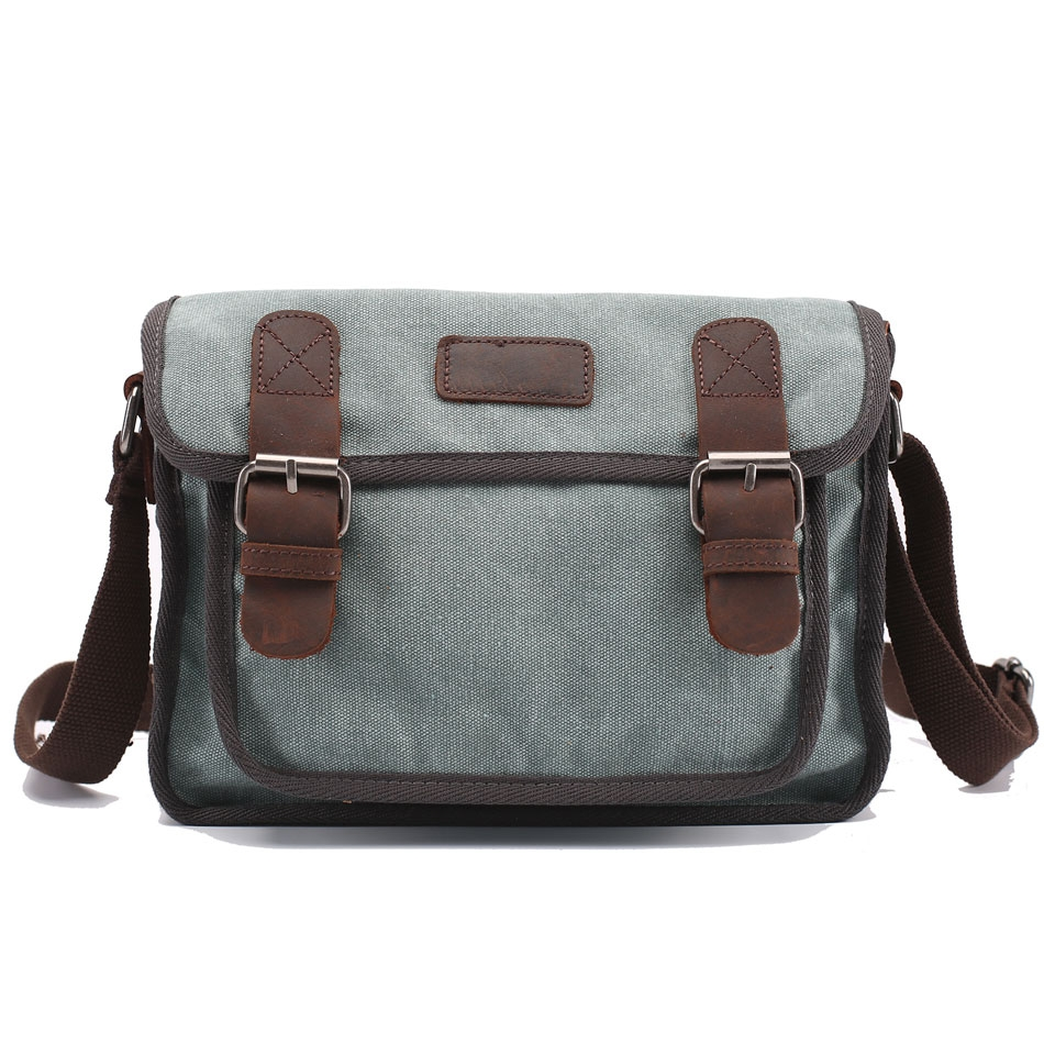 420eee7a6f Messager Men sleather Canvas Bags handbag Casual Travel Bolsa ...
