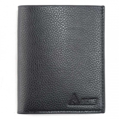 Man short vertical section head layer cowhide Genuine Leather Slim retro men's youth Wallet Black One Size