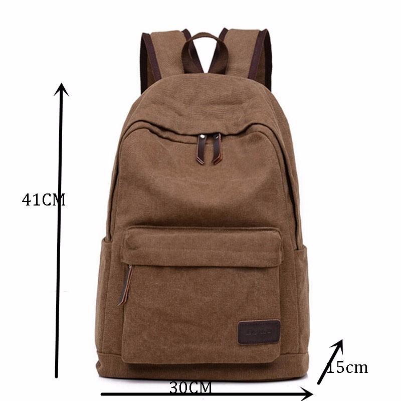 347abbbd42 2017 Vintage Men Canvas Backpack Fashion School Satchel Bags Casual ...
