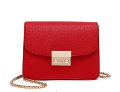 brand bags women leather handbags Chain Solid Shoulder Bag mini bags Woman Messenger Bag red one size