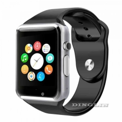 W8 Bluetooth Smart Watch Phone For Android iPhone Samsung HTC TF Camera SIM Slot Black 11cm