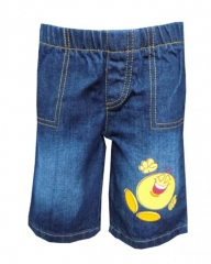 Dorris & Morris Blue Toddler Boys Cartoon Shorts blue denim 2-3YEARS