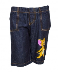 Dorris & Morris Denim Kids/Toddler Cartoon Star Jerry Shorts blue denim 2-3YEARS