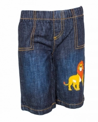 Dorris & Morris Blue Kids/Toddler Cartoon The Lion King Star Shorts blue denim 2-3YEARS